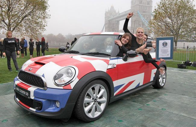 Guinness World Record- 28 People in a 2012 Mini