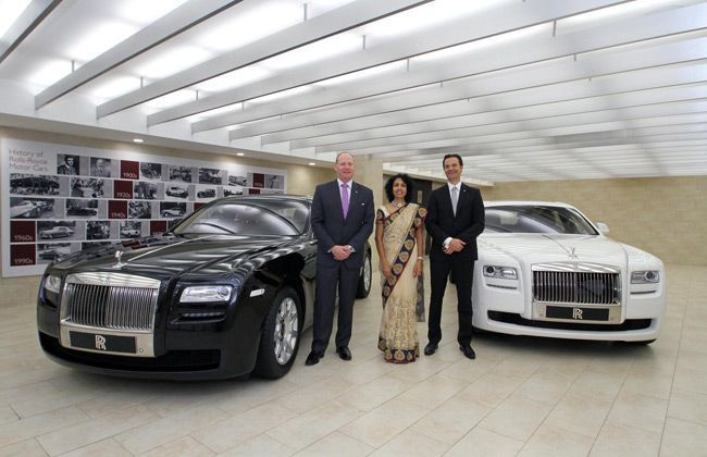 Rolls Royce Opens Showroom in Hyderabad, two More in India by Mid 2013