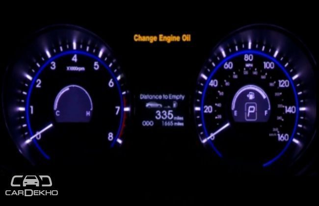 Engine oil change in car