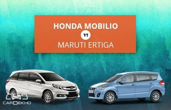Honda Mobilio VS Maruti Ertiga