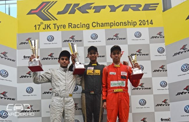 Vishnu Prasad shines at JK Racing