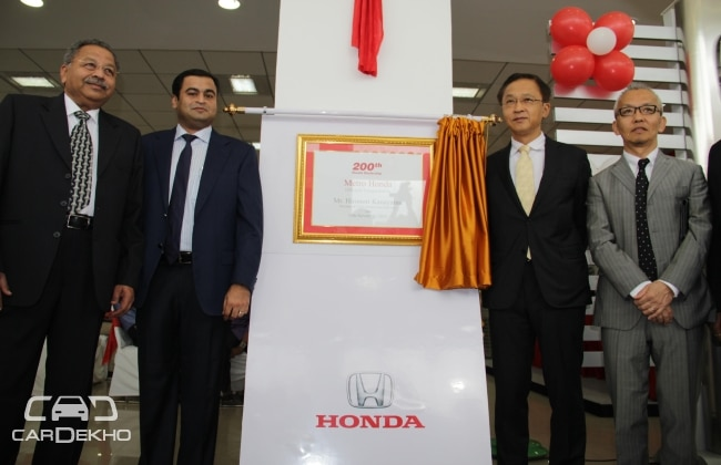 Launch of 200th dealership by Honda