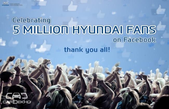 Hyundai India achieves 5 million facebook fans milestone