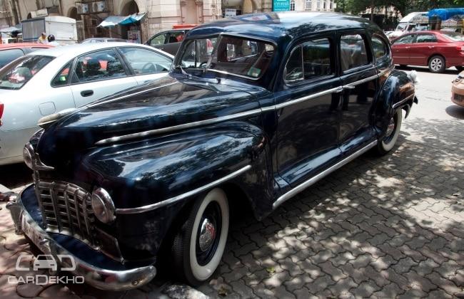 Old vintage dodge sedan car in delhi