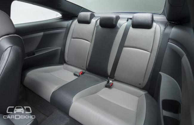 2016 Honda Civic Coupe Rear Seats