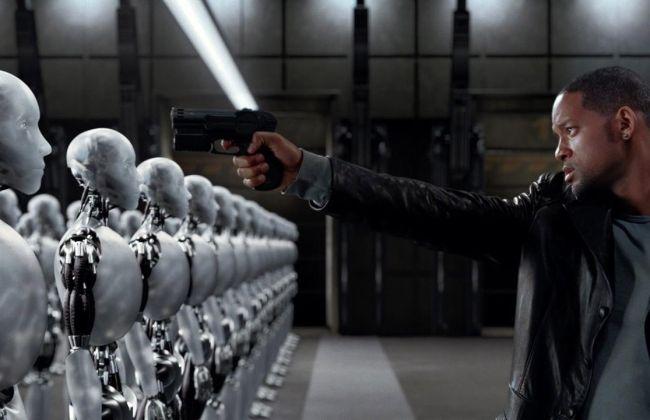 Will Smith pointing gun