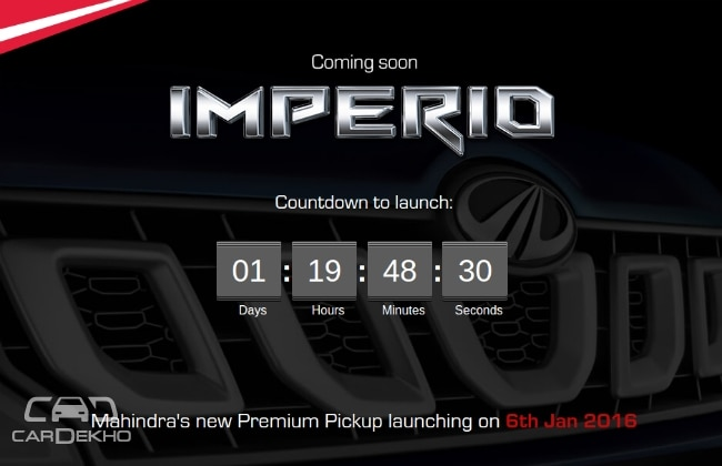Mahindra Imperio Launch Countdown