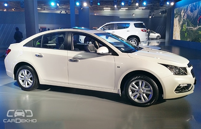 Chevrolet Cruze Facelift Showcased At Auto Expo 2016 Business