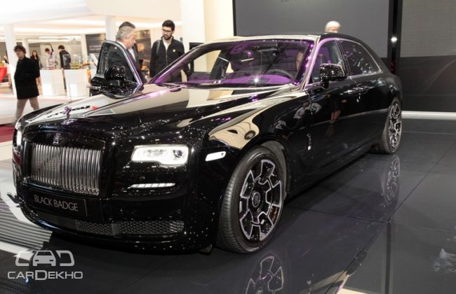 Rolls Royce Ghost and Wraith Black Badge Editions