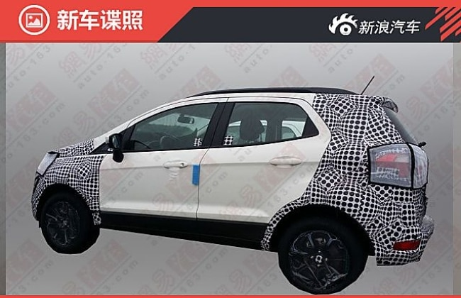 Ford EcoSport facelift spied