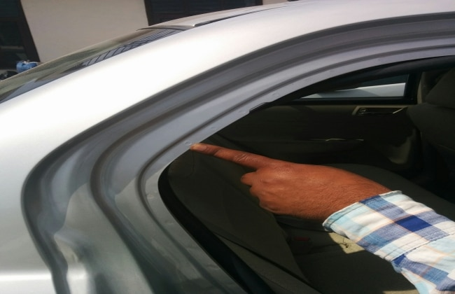 Non-accidental car (with punching holes)