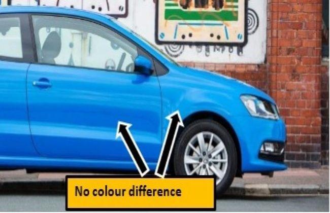 A genuine factory paint