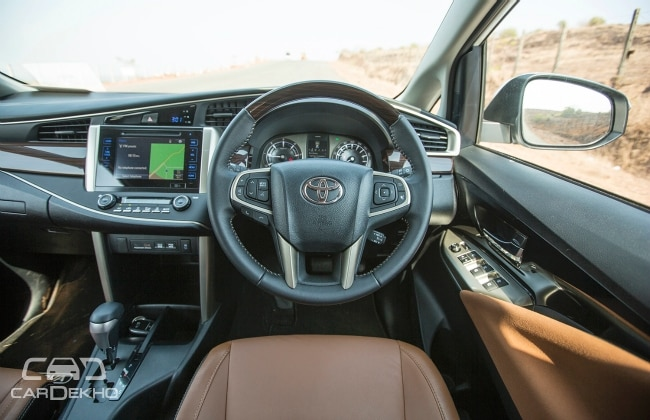 Innova Crysta interiors