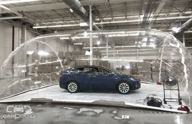 The Model X in the air bubble