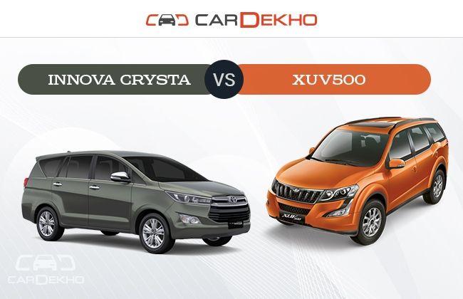 Innova Crysta vs XUV500 : Which One to Pick?