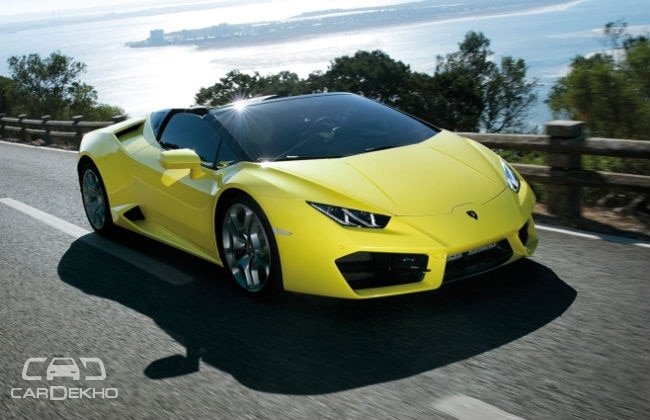 lamborghini huracan rwd spyder launched at rs crore. Black Bedroom Furniture Sets. Home Design Ideas
