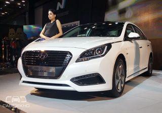 Hyundai Showcases Sonata Plug-in Hybrid at Auto Expo 2016