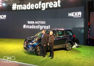 Tata Hexa revealed at the 2016 Indian Auto Expo
