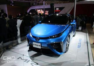 Toyota displays Mirai at Auto Expo 2016