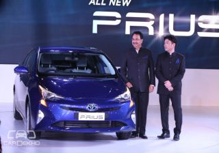 Toyota uncovers Prius Hybrid at Auto Expo 2016