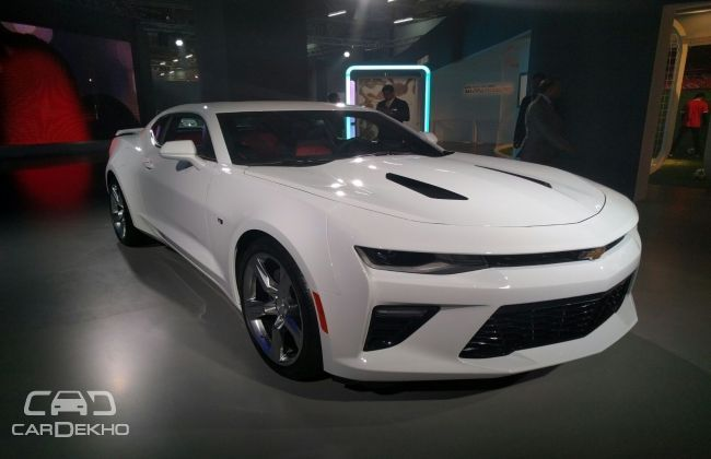 chevrolet camaro showcased at the 2016 indian auto expo