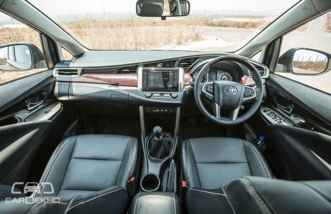 Toyota innova crysta what 39 s inside for Innova interior 8 seater